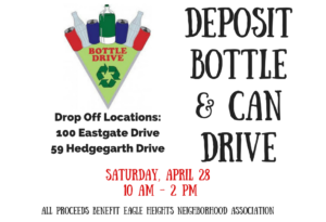 Flyer for Deposit Bottle & Can Drive